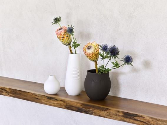 Villeroy & Boch Vase Perle klein 11x11x12 COLLIER BLANC