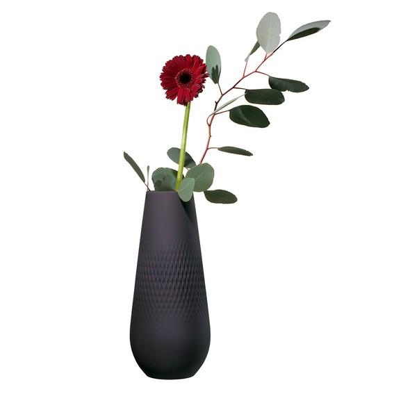 Villeroy & Boch Vase Carre hoch 11,5x11,5x26 COLLIER NOIR