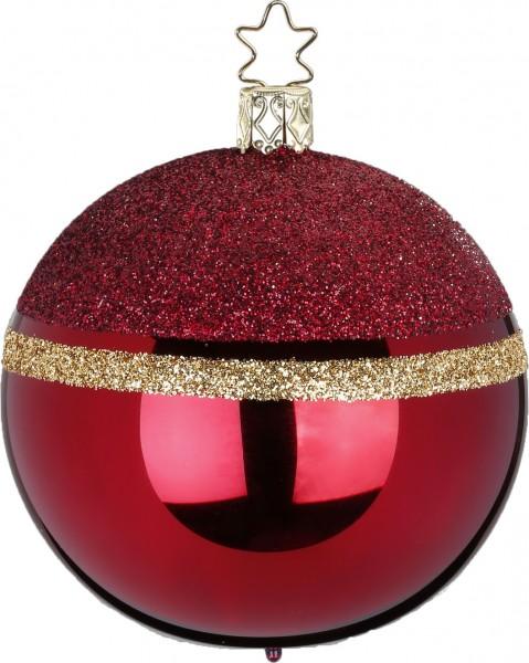 Inge's Christmas Decor Kugel 10cm Glitter Top ochsen. INGE'S CHRISTMAS
