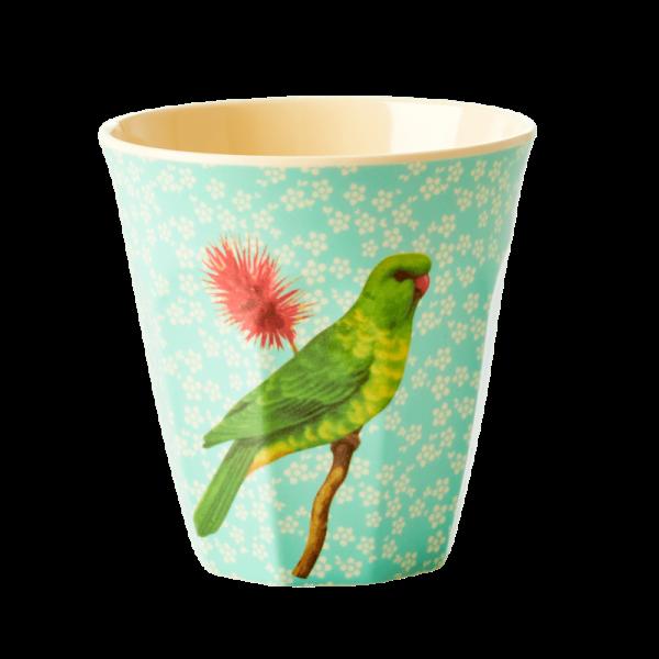 Rice Becher 9cm Vintage Bird green