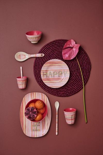 Rice Teller Happy Pink Print