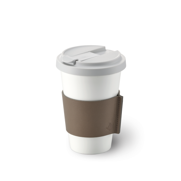 Dibbern Coffee to go Becher taupe 0,35L