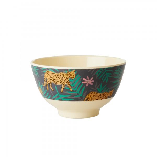 Rice Bowl 11cm Leopard&Leaves