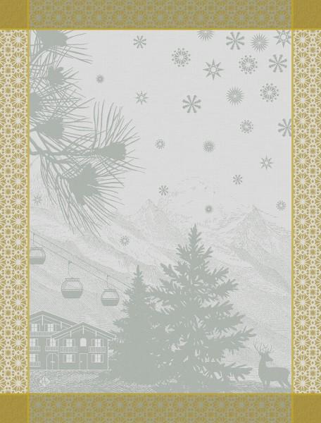 Le Jacquard Francais Geschirrtuch 80x60 SOMMETS ENNEIGES SNOW