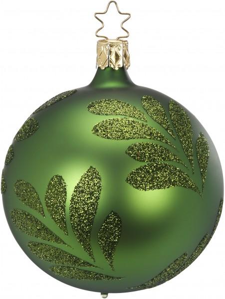 Inge's Christmas Decor Kugel 8cm Magic Leaf grün matt INGE'S CHRISTMAS
