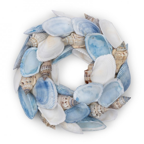 Rivièra Maison Kranz 15cm Blue Sea Shell RIVIERA MAISON 4 x Ø 15