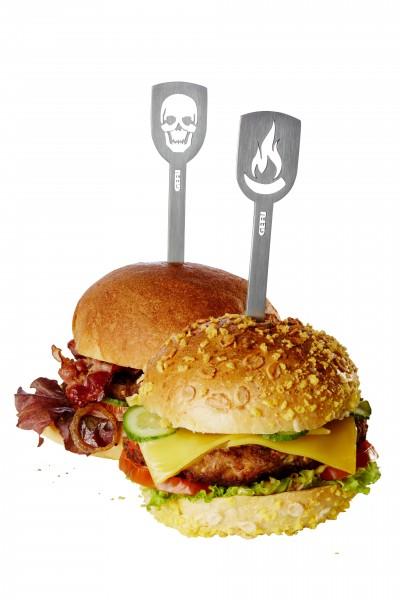 GEFU Hamburgerspieße 2er