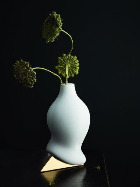 Rosenthal Vase 28cm SIROP GOLD TITANISIERT