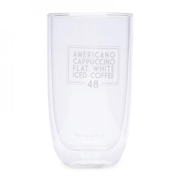 Rivièra Maison Glas L doppelwandig LOVE COFFEE 13.8 x Ø 8