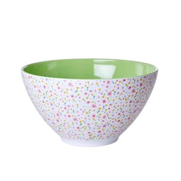 Rice Salatschüssel 26,5cm weiß SPRING FLOWER PRINT