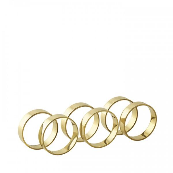 Broste Copenhagen Serviettenringe 6 Stück gold glänzend BROSTE COPENHAGEN