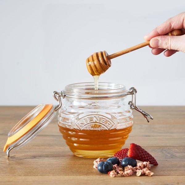 Kilner Honigglas 0,125L mit Löffel Bügelverschluss
