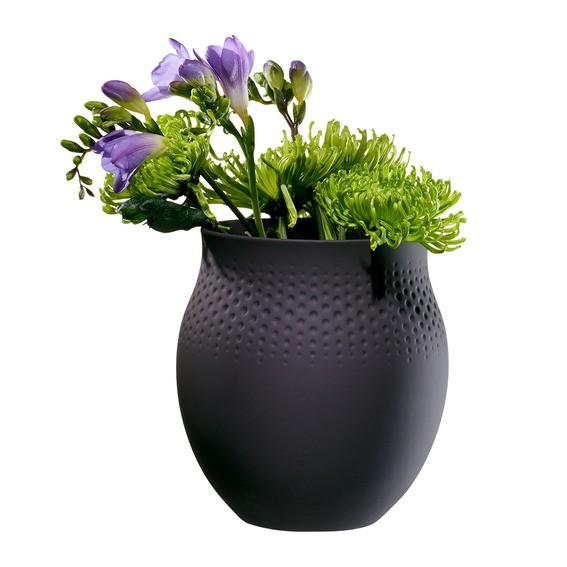 Villeroy & Boch Vase Perle groß 16,5x16,5x17,5 COLLIER NOIR