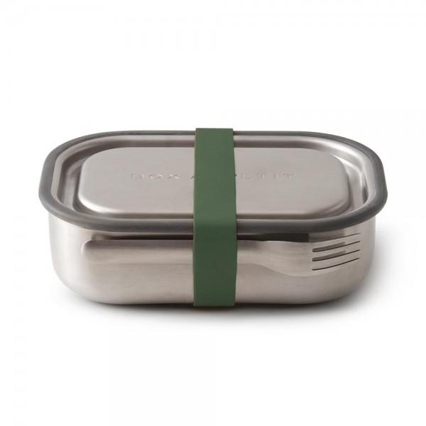 Edelstahl-Lunchbox (olive)