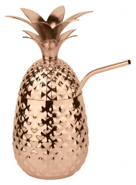 Sambonet Schale Ananas kupfer + Trinkh.