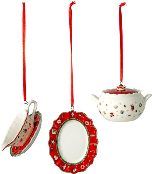 Villeroy & Boch Ornament Serviert. 3tlg. TOYS DEL. DEC.