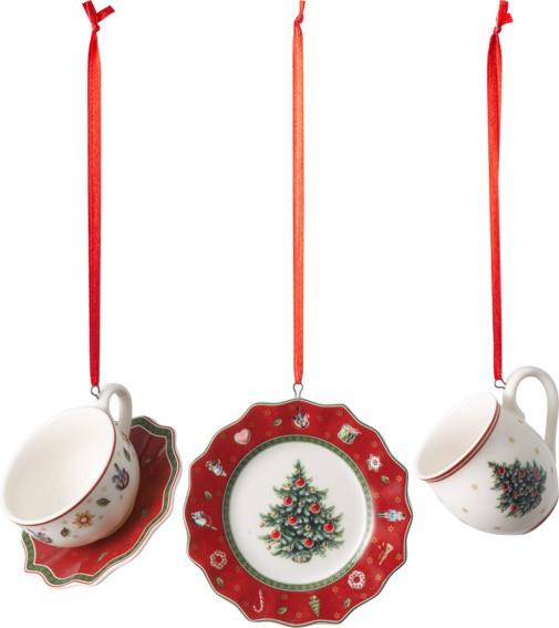 Villeroy & Boch Ornament Geschirrset rot 3tlg. TOYS DEL. DEC.