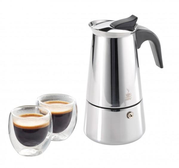 GEFU Espressokocher+2 Tassen Emilio