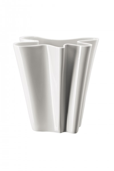 Rosenthal Vase 26cm FLUX WEISS