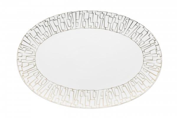 Rosenthal Platte 38 cm TAC GROPIUS SKIN GOLD