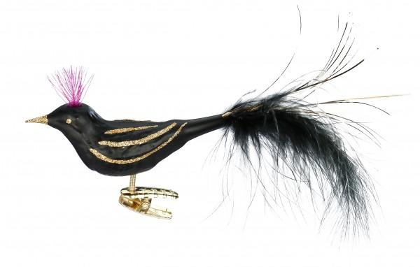 Inge's Christmas Decor Midnight Bird 10,5cm Nouv.Art INGE'S CHRISTMAS