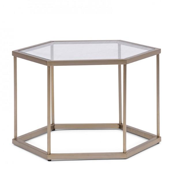 Rivièra Maison Beistelltisch Hexagon Glas COSTA MESA 60 x 43 x 40