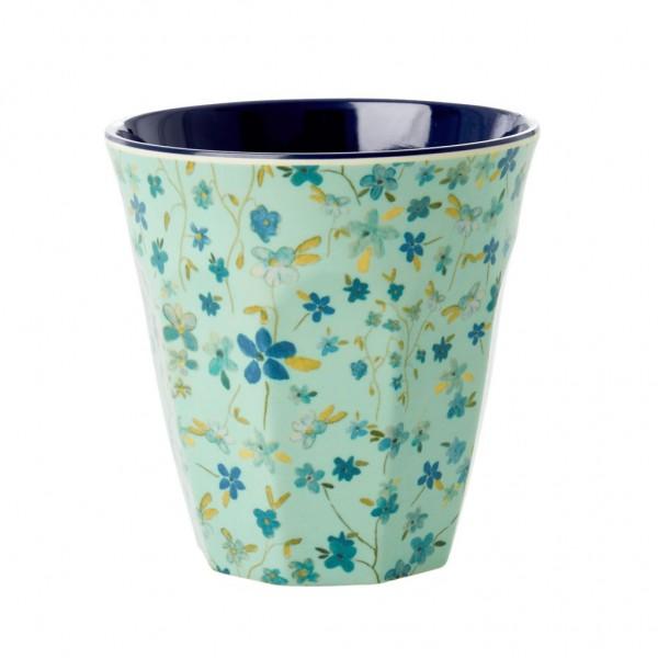 Rice Becher 9cm Blue Floral Print