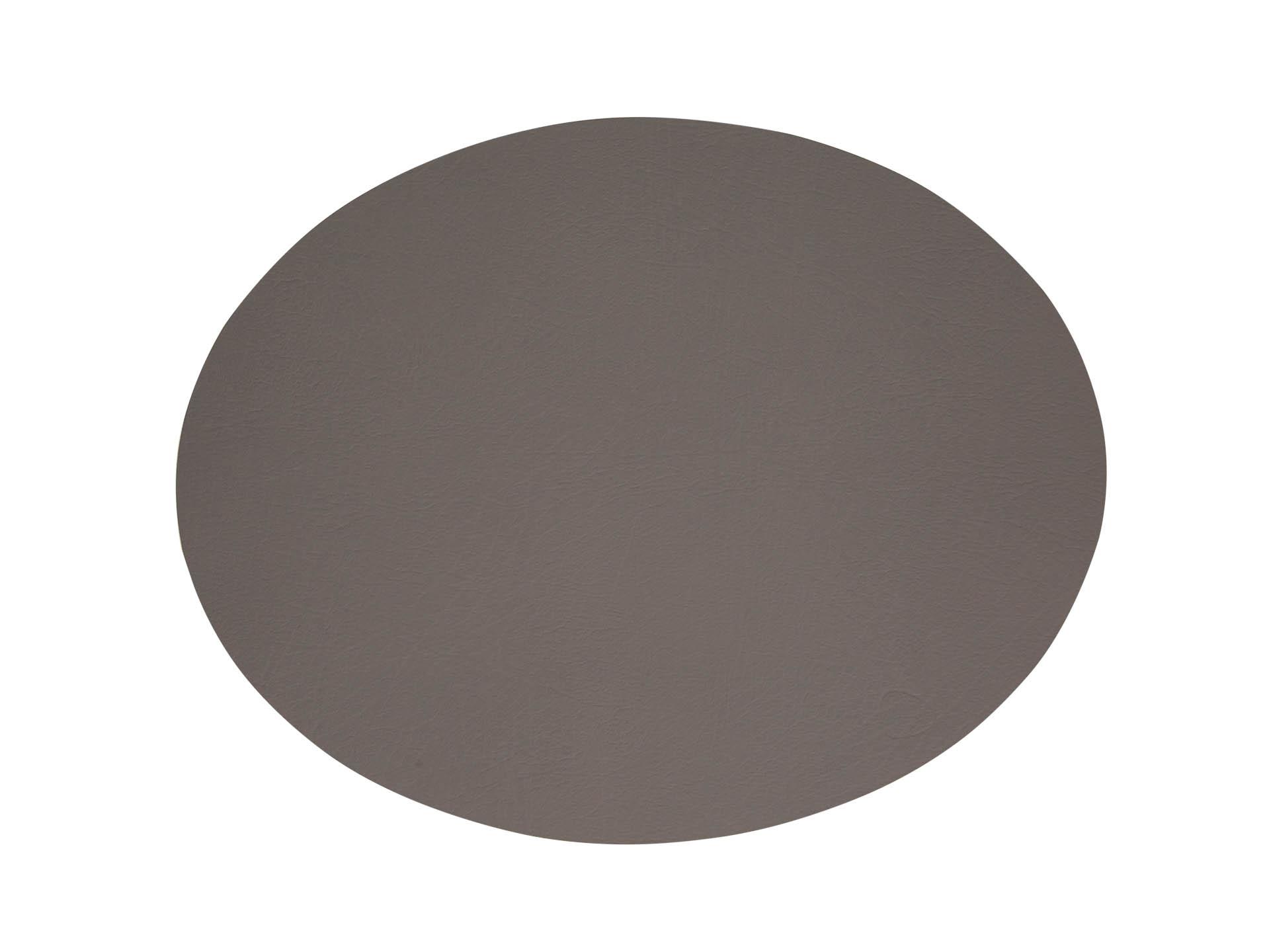 Tischset oval 35x46 DOUBLE schwarz met.