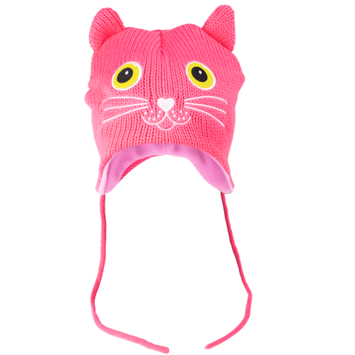 "Pylones Kindermütze ""pinke Katze"""