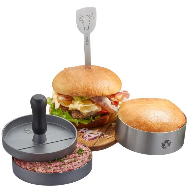 GEFU Burgerset 3tlg BBQ GEFU