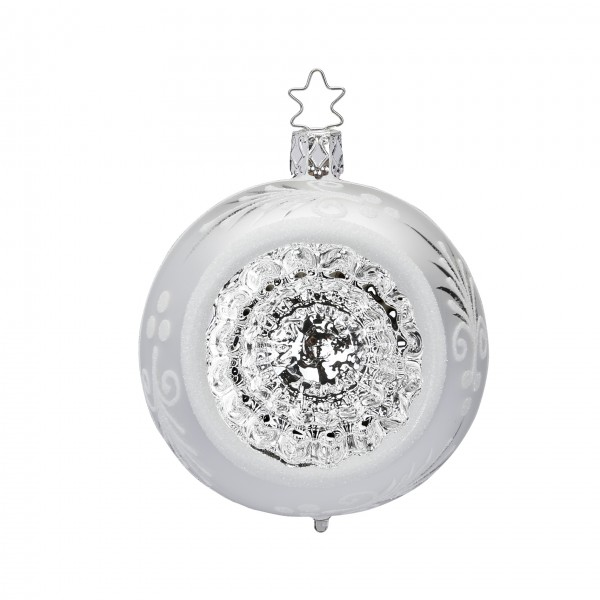Inge's Christmas Decor Reflexkugel 10cm silber glanz INGE'S CHRISTMAS