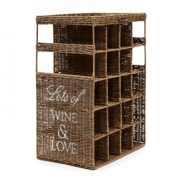 Rivièra Maison Weinrack Wine&Love RUSTIC RATTAN