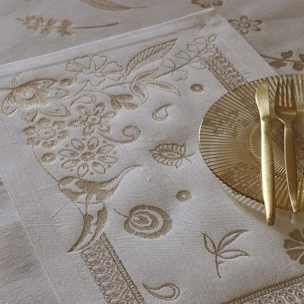 Le Jacquard Francais Set 50x36 gold HAUTE COUTURE