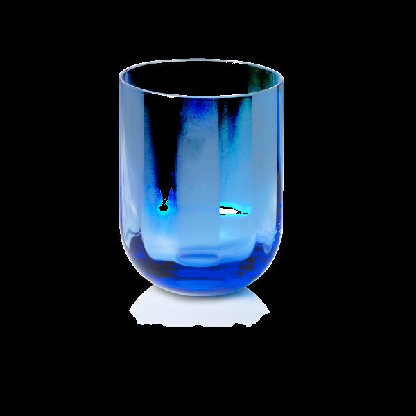 Dibbern Glas 0,25L azurblau ROTONDO OPTIC
