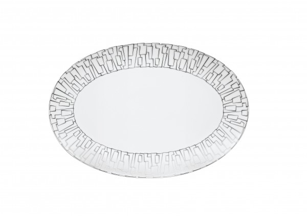 Rosenthal Platte 34cm TAC GROPIUS SKIN PLATIN